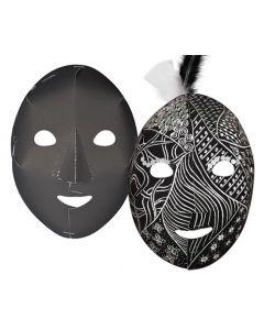 Scratch White Face Full Masks 100pcs