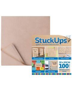 StuckUps Brown Kraft Paper 30cm x 30cm 100pcs