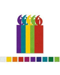 Pre-Cut Felt Candles Assorted Sizes 10 x A4 Sheets 90pcs