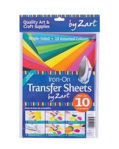 Iron-On Colour Sheets A4 10pcs