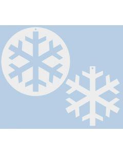 Large Cardboard Snowflakes 10pcs