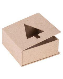 Papier Mache Cut-Out Tree Box