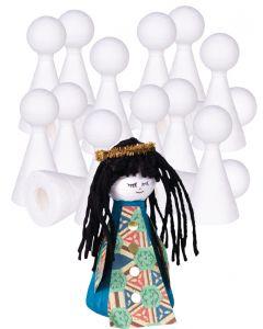 Spun Paper Finger Puppets 25pcs