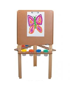 Three-Sided Wooden Easel 121cmH