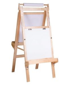 Premium Adjustable Solid Birch Double Sided Magnetic Whiteboard Easel 152cmH