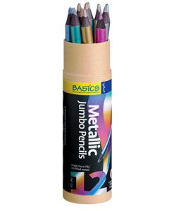 Jumbo Metalic Pencils 12pcs