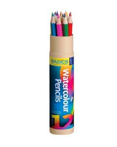 Watercolour Pencils 12pcs With Brush