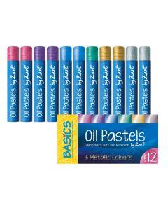 Oil Pastels Metallic Colours 12pcs