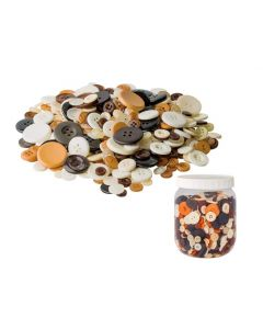Bulk Buttons Assortment Natural Tones 600g