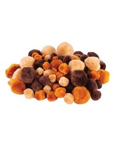 Pom Poms Earth Tones 95pcs
