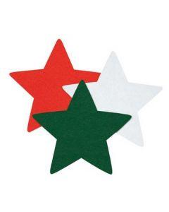 Felt Stars Mix 60pcs
