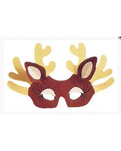 Cardboard Reindeer Masks 15pcs