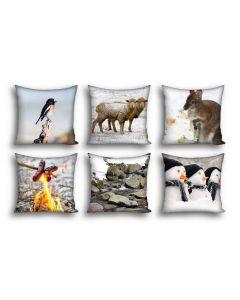 Snowy Winter Cushions Set of 6