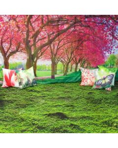 Welcome Spring Dramatic Play Scene: Carpet, Backdrop and 6 Cushions