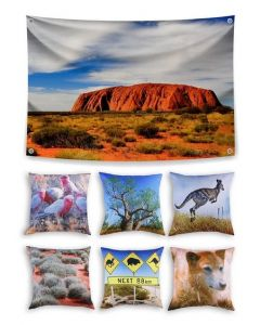 Australia Themed Backdrop and 6 Cushions With Inserts