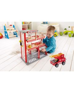 Fire Station and Fire Truck Set
