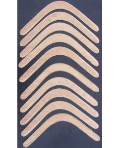 10 Left-Handed Plywood Returning Boomerangs 45cm