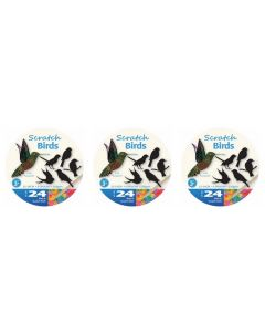 Scratch Art Birds 72pcs