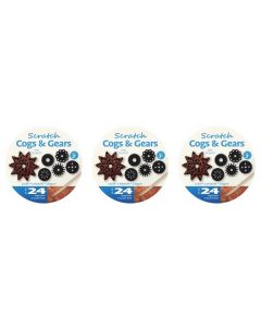 Scratch Art Cogs and Gears 72pcs
