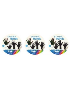 Scratch Art Hands 72pcs