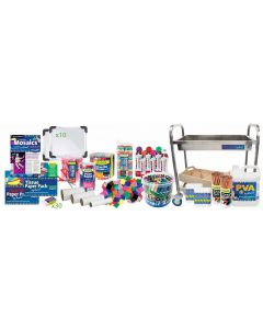 Stainless Steel Art Trolley Loaded With Collage & Craft Materials 11081pcs