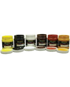 Aquatex Earth Colours Fabric Paint 6 x 500ml