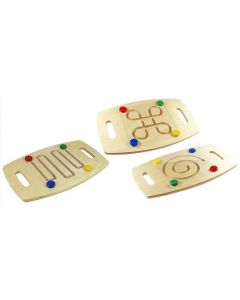 Balance Boards Set - Spiral, Zig Zag and Loop