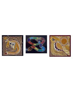 Kangaroo Dreaming, Rainbow Serpent and Ga Ga the Kookaburra Puzzle Set