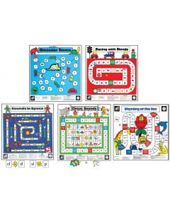 Five Full-Sized Literacy Floor Games Set