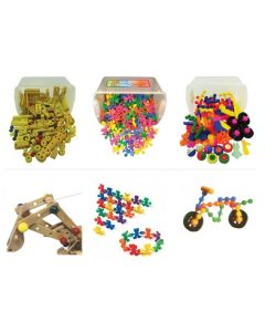 Construction & Building Compilation of Chock-a-Block, Flexi Friends and Interstar 408pcs