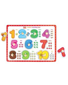 Knobbed Numbers 1 to 10 Puzzle 10pcs