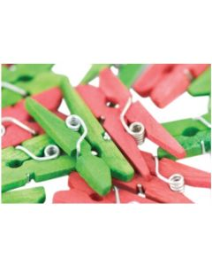 Mini Christmas Pegs 48pcs