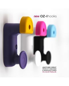 Oz-i Two-Point Bag & Hat Hooks Black Body with Scarlet Buttons 150pcs