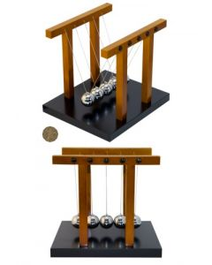 Large Wooden Newton's Cradle With 3cm Diameter Balls.