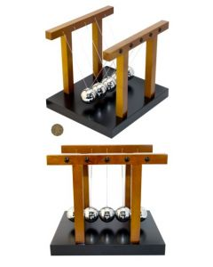 Larger Wooden Newton's Cradle With 4cm Diameter Balls