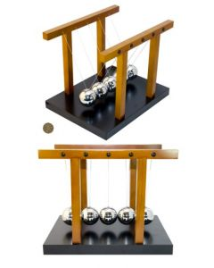 Largest Wooden Newton's Cradle With 5cm Diameter Balls