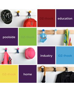 Oz-i Two-Point Bag & Hat Hooks Purple Body with Sky Blue Buttons 150pcs