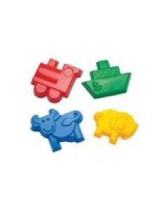 Dantoy Assorted Sand Moulds 4pcs