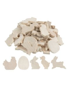 Wooden Easter Shapes 30pcs